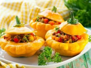 Блюдо из патиссонов (dish of squash)